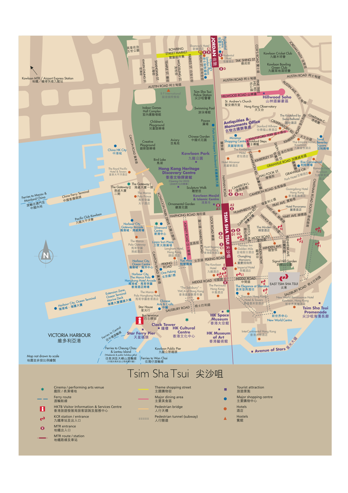 Tsim Sha Tsui Hong Kong Map