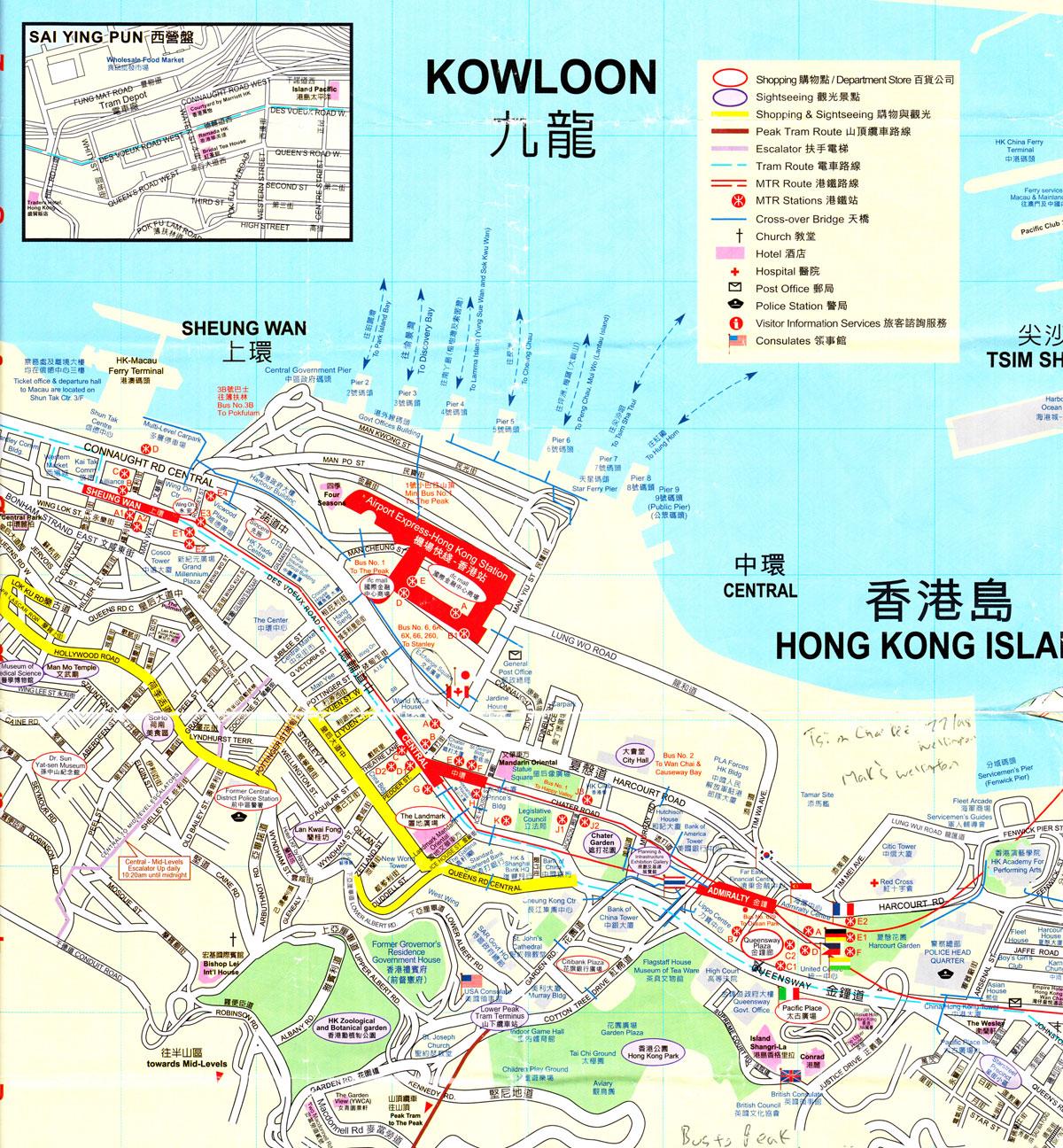 Central Hong Kong Map