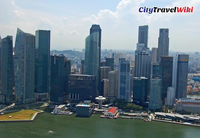 Downtown Singapore from Marina Bay Sands